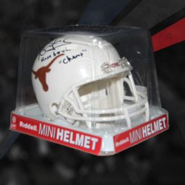Riddell Mini Helmet Signed By Vince Young